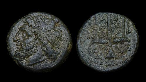 SICILY, Syracuse . Hieron II, 270-215 BC . AE19 . Ex Cardinal Meisner Collection