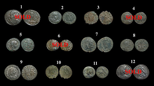 Pick Bin #2 . Roman Coins 3rd - 4th Century . $7.50 / coin of your choice