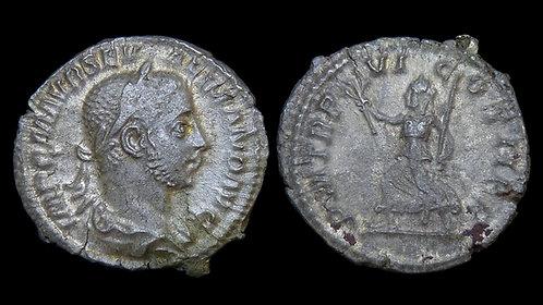 SEVERUS ALEXANDER . AD 222-235 . AR Denarius . Pax Godess of Peace . *Pedigreed*