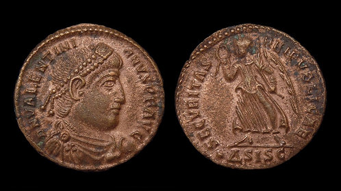 VALENTINIAN I . AD 364-375 . AE3 . Victory walking left