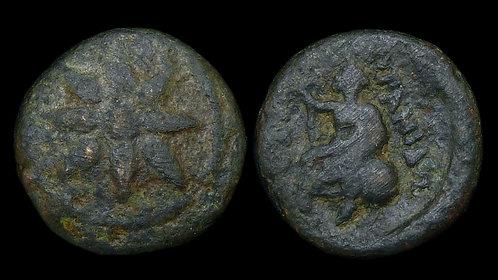 "MACEDON, Uranopolis . Circa 300 BC . AE16 . Alexarchos's ""City of Heaven"""