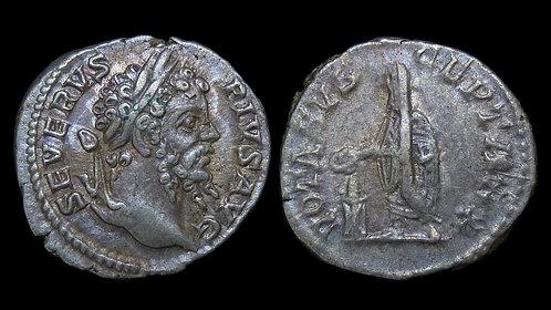 SEPTIMIUS SEVERUS . AD 193-211 . AR Denarius . Emperor Sacrificing . *Pedigreed*