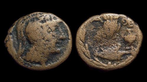 "ATTICA, Athens . 80-42 BC . AE20 . Interesting ""New Style"" bronze . *Pedigreed*"