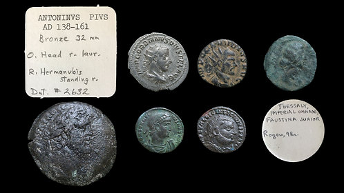 LOT of 6 ROMAN IMPERIAL / PROVINCIAL AR & AE COINS . *Two with nice pedigrees*