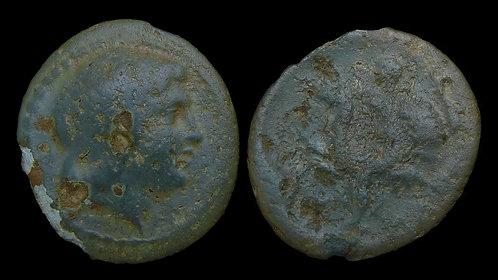 THESSALY, Larissa Kremaste . 4th century BC . AE20 . Achilles . **Rare/Ex BCD**