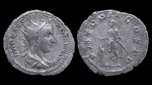 "GORDIAN III . AD 238-244 . Antoninianus . ""Emperor sacrificing"""