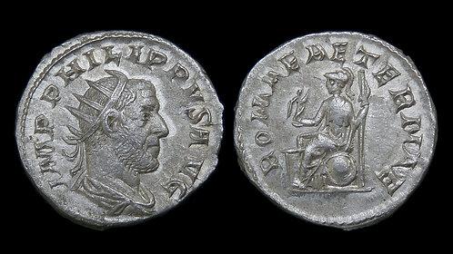 PHILIP THE ARAB . AD 244-249 . Antoninianus . ROMAE AETERNAE . Ex Kelly Coll.