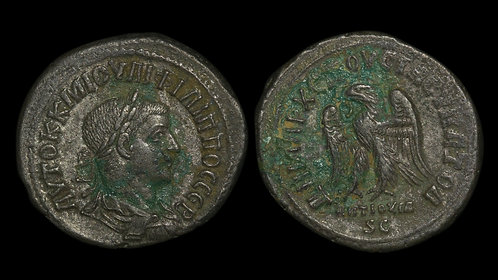 PHILIP II . SYRIA, Seleucis and Pieria, Antioch mint . AR Tetradrachm