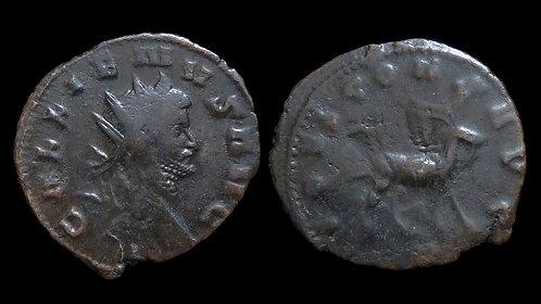 """GALLIENUS . AD 253-268 . AE Antoninianus . Zoo Series (""""IOVI"""" - Goat)"""