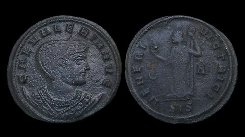 GALERIA VALERIA . AD 308-314 . AE Follis . Venus, Goddess of Love *Pedigreed*