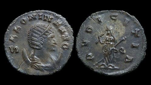 SALONINA . AD 254-268 . AE Antoninianus . Pudicitia