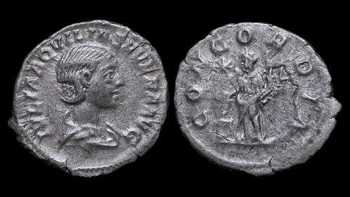 AQUILIA SEVERA . AD 220-222 . AR Denarius . Heavy specimen . *Rare & Pedigreed*