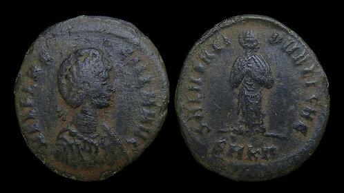 AELIA FLACCILLA, wife of Theodosius I . d. AD 386 . AE2 . Salus