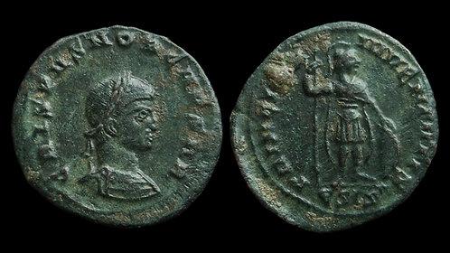 """CRISPUS, Caesar . AD 317-326 . AE3 . """"PRINCIPI IVVENTVTIS"""" . Siscia"""