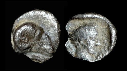 CARIA, Kasolaba . 420-400 BC . AR Hemiobol . Affordable 2,400 year old silver