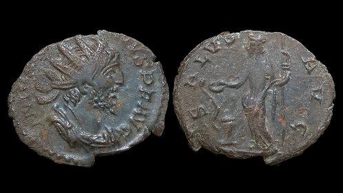 VICTORINUS, Usurper . AD 269-271 . AE Antoninianus . Salus . Found in Norfolk