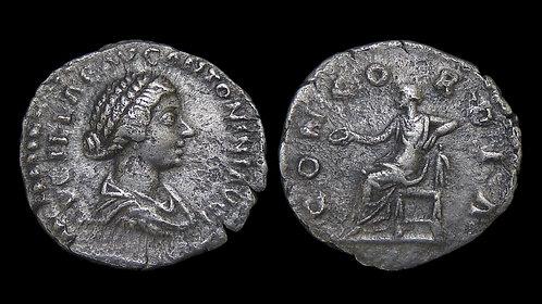 """LUCILLA . AD 164-169 . AR Denarius . """"CONCORDIA"""" . Ex A.K. Collection"""