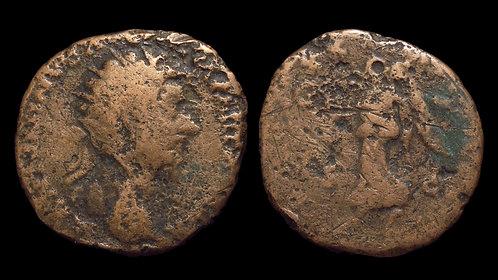 MARCUS AURELIUS . AD 161-180 . AE Dupondius . Victory . Budget bronze