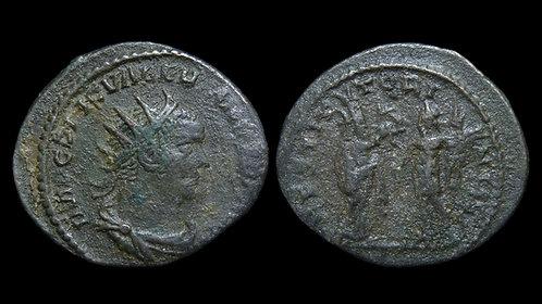 """VALERIAN . AD 253-260 . Antoninianus . """"Emperor and the Orient"""""""