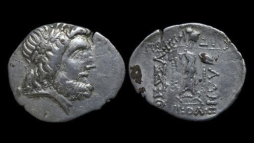 THESSALY, Thessalian League . Circa 1st century BC . AR Stater . Zeus/Athena