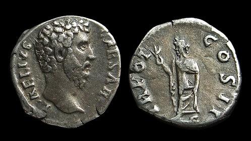 AELIUS, Caesar . AD 136-138 . AR Denarius . Original adopted heir of Hadrian