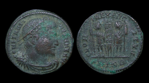 """CONSTANTINE I . AD 306-337 . AE3 . """"Glory of the Army"""" . Cyzicus"""
