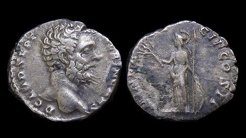 CLODIUS ALBINUS, as Caesar . AD 193-195 . AR Denarius . Minerva *Pedigreed*