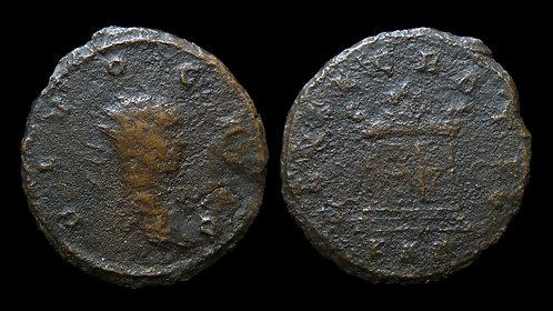 """CARUS . AD 282-283 . Antoninianus . """"Posthumous, Altar reverse"""""""
