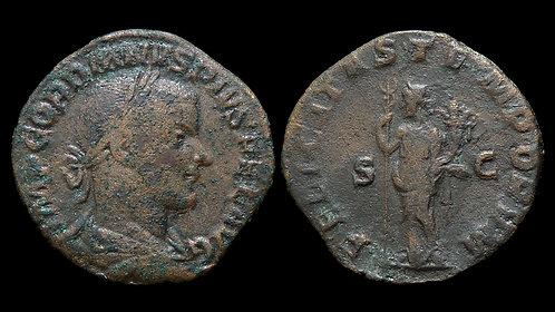 GORDIAN III . AD 238-244 . AE Sestertius . Felicitas . *Pedigreed*