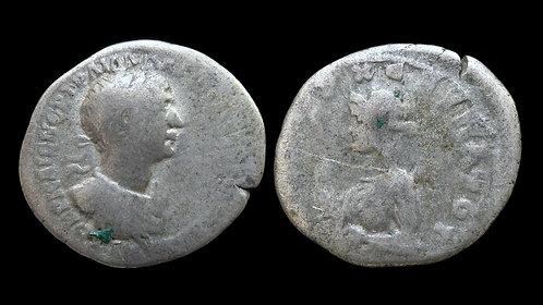 TRAJAN . CAPPADOCIA, Caesarea-Eusebeia . AR Drachm . Artemis