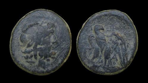 MYSIA, Pergamon . circa 200-133 BC . AE21 . Asklepios/Eagle