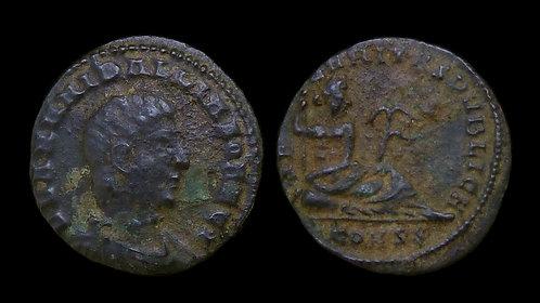 HANNIBALLIANUS, as Rex Regum . AD 335-337 . AE4 . Rare ruler, interesting type