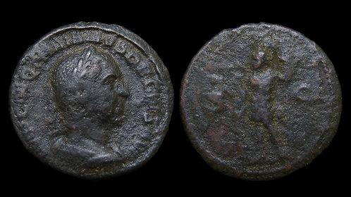 TRAJAN DECIUS . AD 249-251 . AE Semis. Mars . Scarce fraction . *Pedigreed*