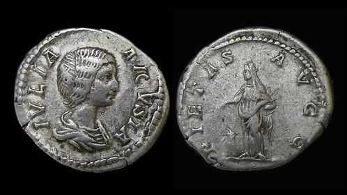 JULIA DOMNA . AD 193-217 . AR Denarius . Pietas