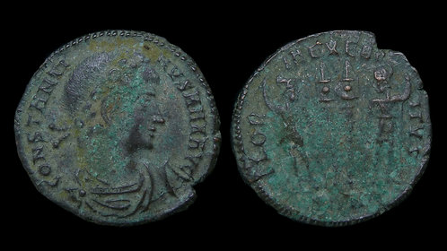 """CONSTANTINE I . AD 306-337 . AE3 . """"Glory of the Army"""""""