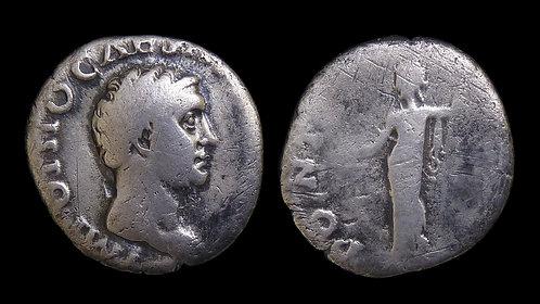 OTHO . AD 69 . AR Denarius . Ceres . Rare