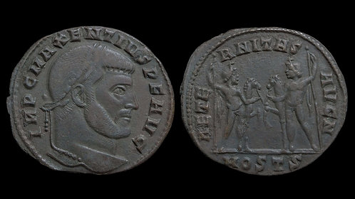 MAXENTIUS . AD 306-312 . AE Follis . Superb example of the type