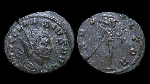 """CLAUDIUS II GOTHICUS . AD 268-270 . Antoninianus . """"Mars the Avenger"""""""