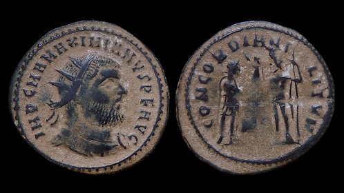 MAXIMIANUS . AD 286-305 . AE Radiate . Concordia. Ex Clain-Stefanelli Collection
