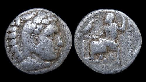 MACEDONIAN KINGDOM . Alexander III the Great, 336-323 BC . AR Drachm *Lifetime*