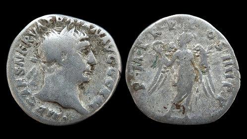"""TRAJAN . AD 98-117 . Denarius . """"Victory"""""""