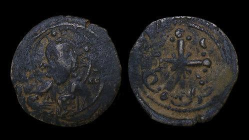 BYZANTINE EMPIRE . Anonymous Class I (Nicephorus III, AD 1078-1081) . AE Follis