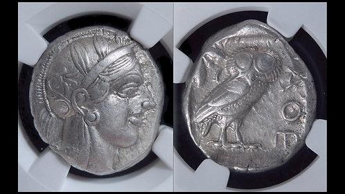ATTICA, Athens . 454-404 BC . AR Tetradrachm . NGC XF - Strike 5/5 - Surface 4/5