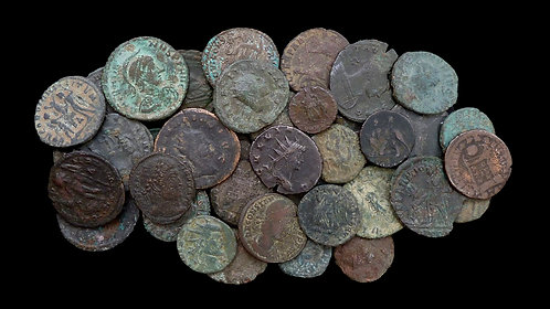 LOT of 40 ROMAN IMPERIAL COINS . 3rd - 4th century AD . Nice budget assortment