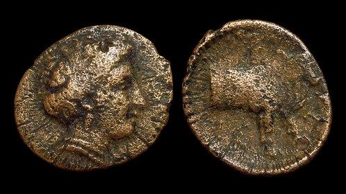 EUBOIA, Histiaia . 338-304 BC . AE15 . Nymph / Forepart of cow