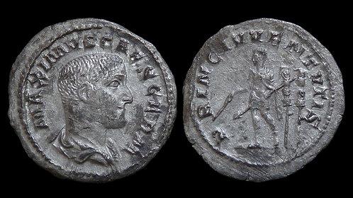 """MAXIMUS, Caesar . AD 236-248 . AR Denarius . """"PRINC IVVENTVTIS"""""""