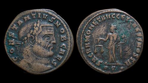 CONSTANTIUS I CHLORUS, as Caesar . AD 293-305 . AE Follis . Ticinum mint