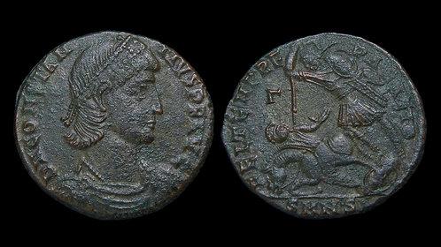 CONSTANTIUS II . AD 337-361 . AE2 . Falling Horseman . Nicomedia