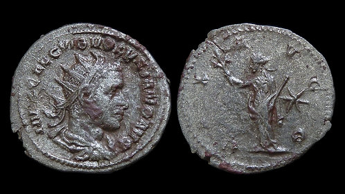 VOLUSIAN . AD 251-253 . AR Antoninianus . Pax, Goddess of Peace