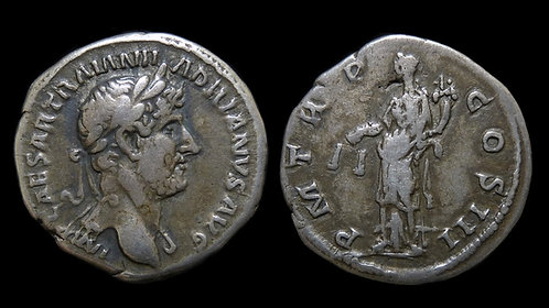 "HADRIAN . AD 117-138 . Denarius . ""Aequitas, Goddess of Fair Trade"""